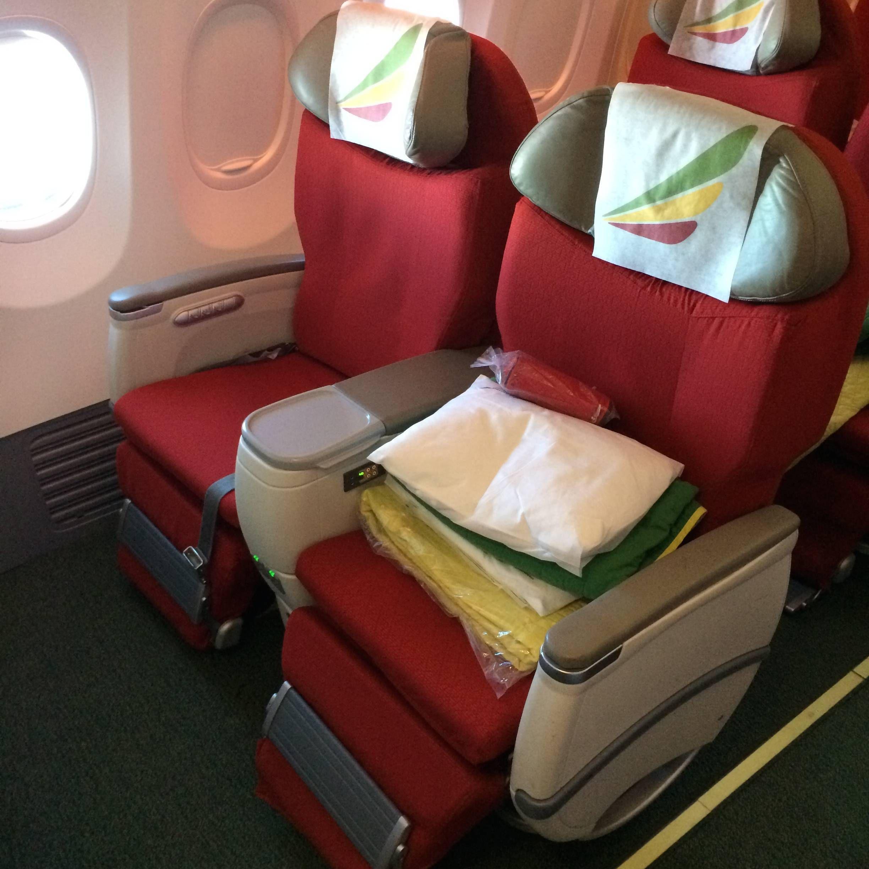 classe executiva business class ethiopian b737 - passaegeirodeprimeira