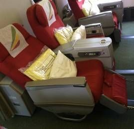 Classe Executiva da Ethiopian Airlines no B767-300