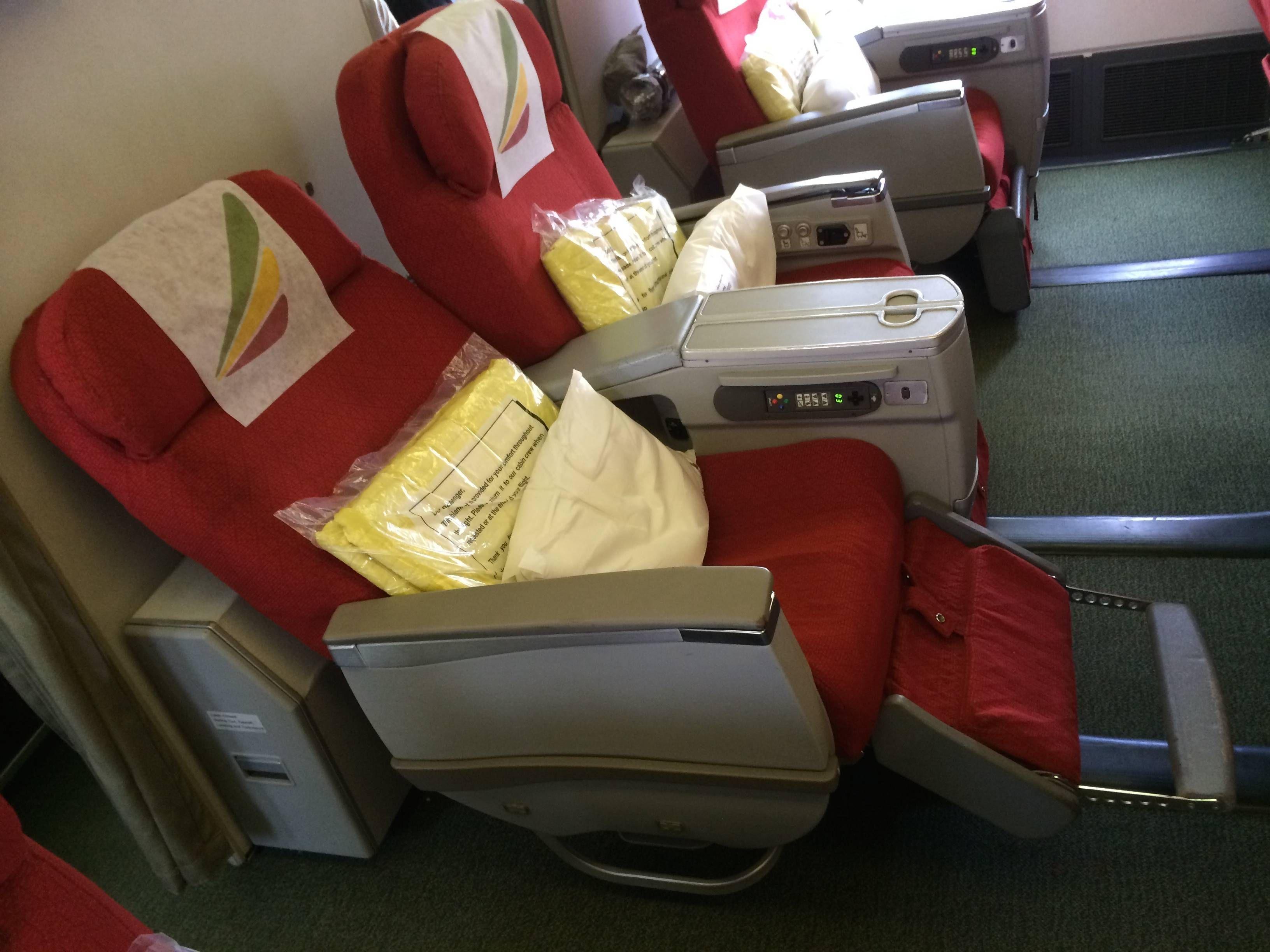 Classe Executiva da Ethiopian Airlines no B767-300