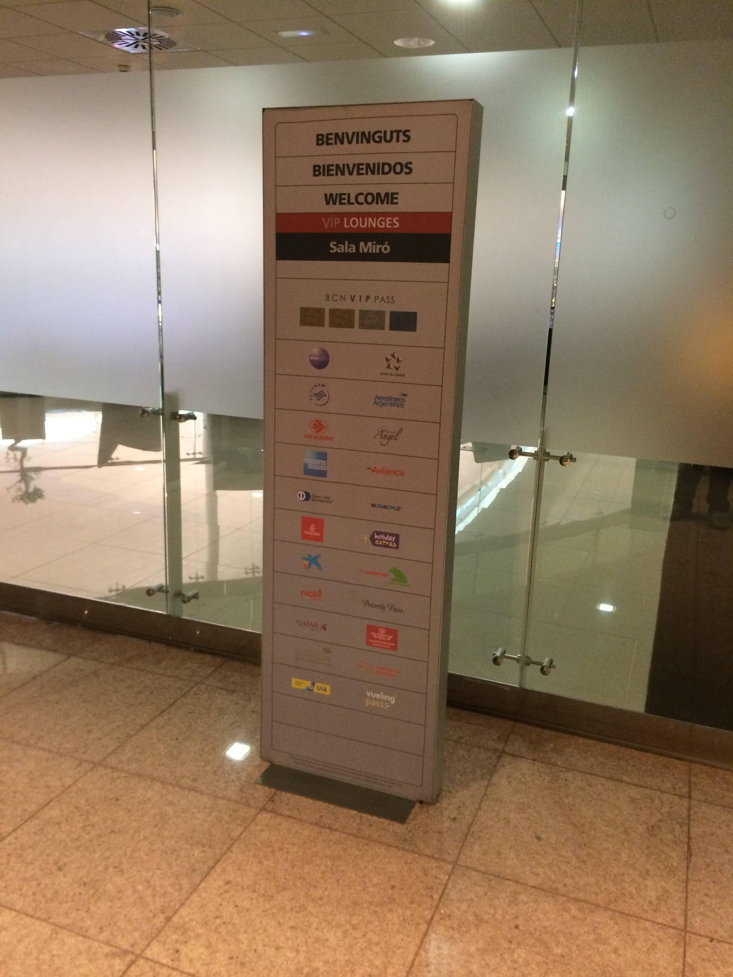 sala vip miro barcelona airport - passageirodeprimeira