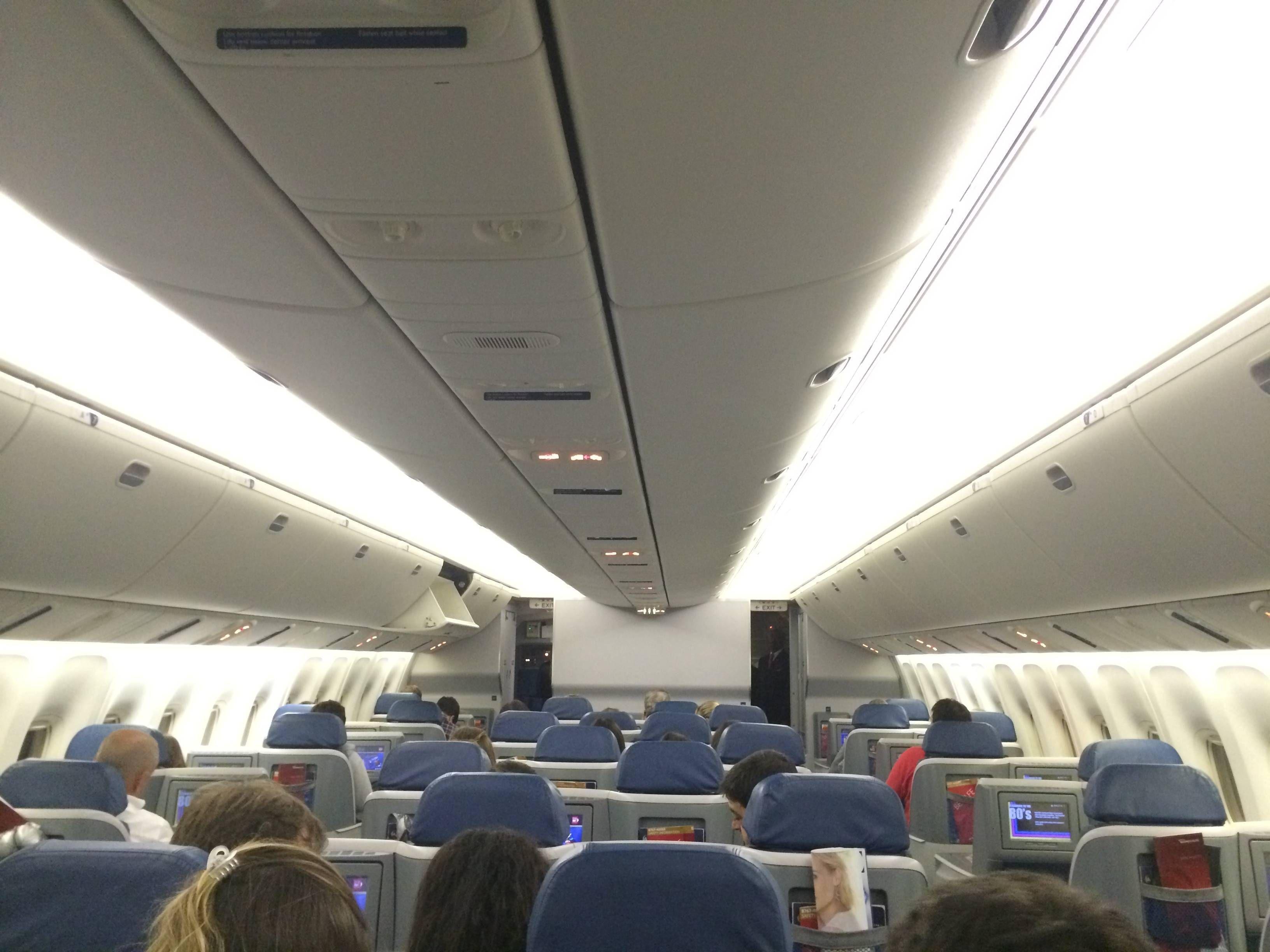 Delta BusinessElite classe executiva b767-400 passageirodeprimeira