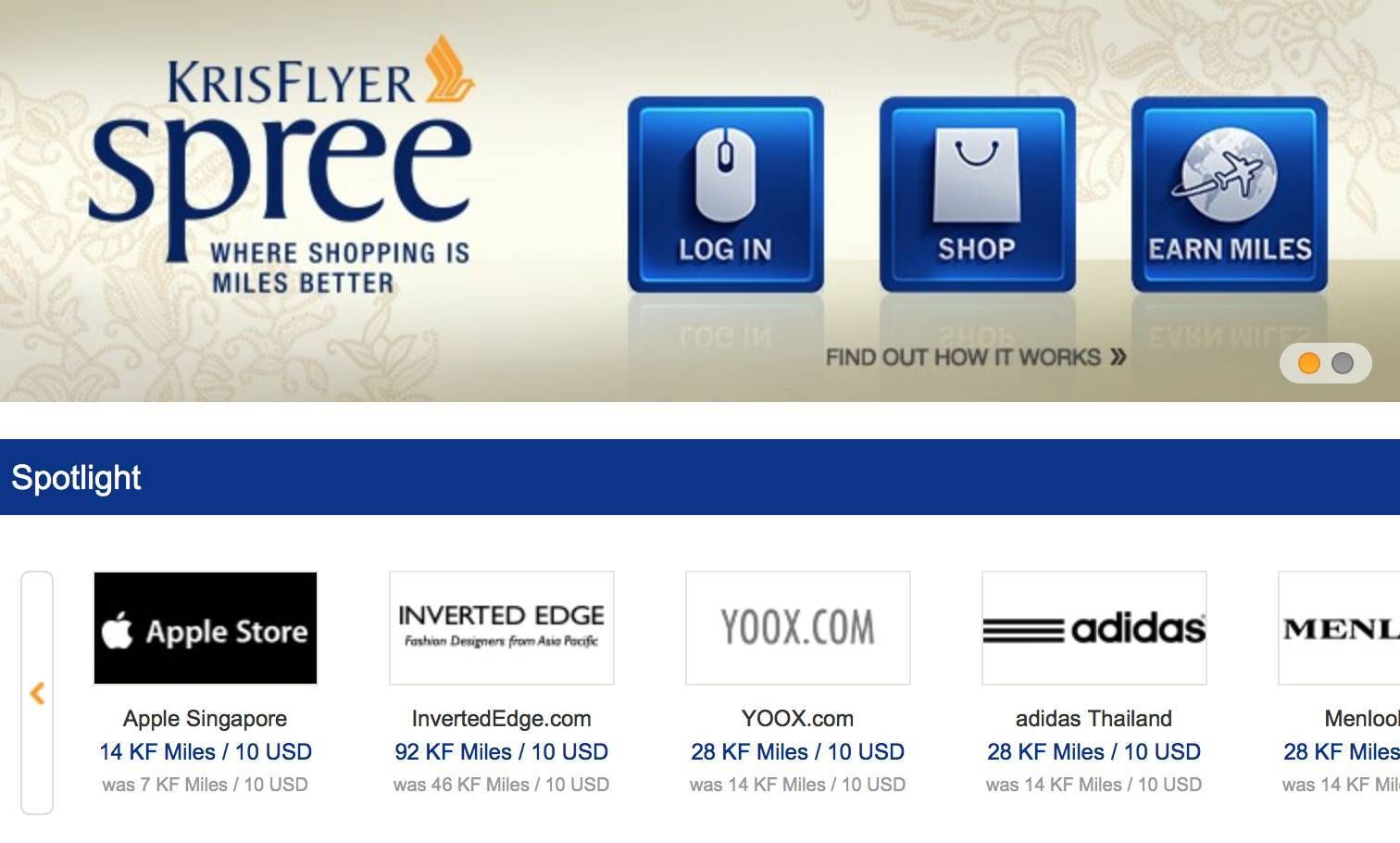Singapore Airlines lança shopping online, o  'Krisflyer Spree'