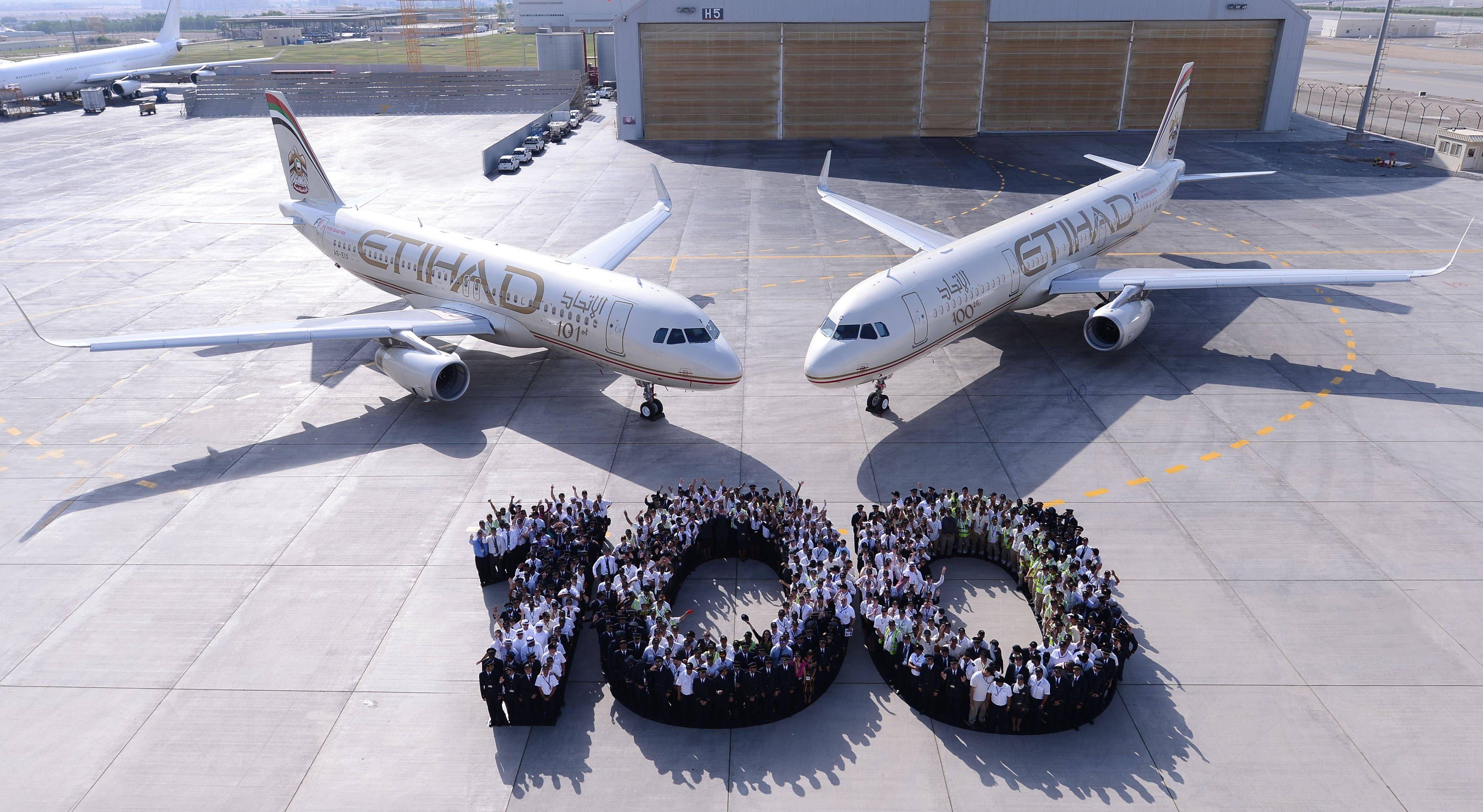 etihad 100th aircraft