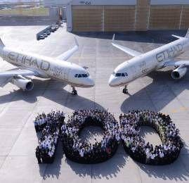 Etihad amplia sua frota e recebe aeronaves de número 100 e 101