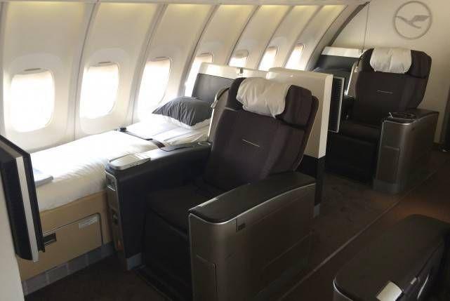 lufthansa b747 first class primeira classe