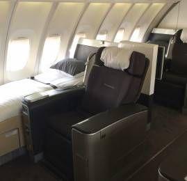 Primeira Classe da Lufthansa no B747-400