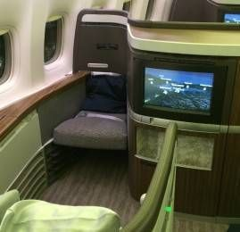 Primeira Classe da Cathay Pacific no B777-300ER