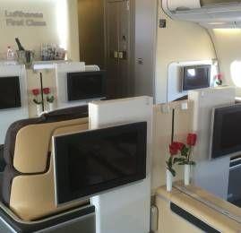 Primeira Classe da Lufthansa no A330