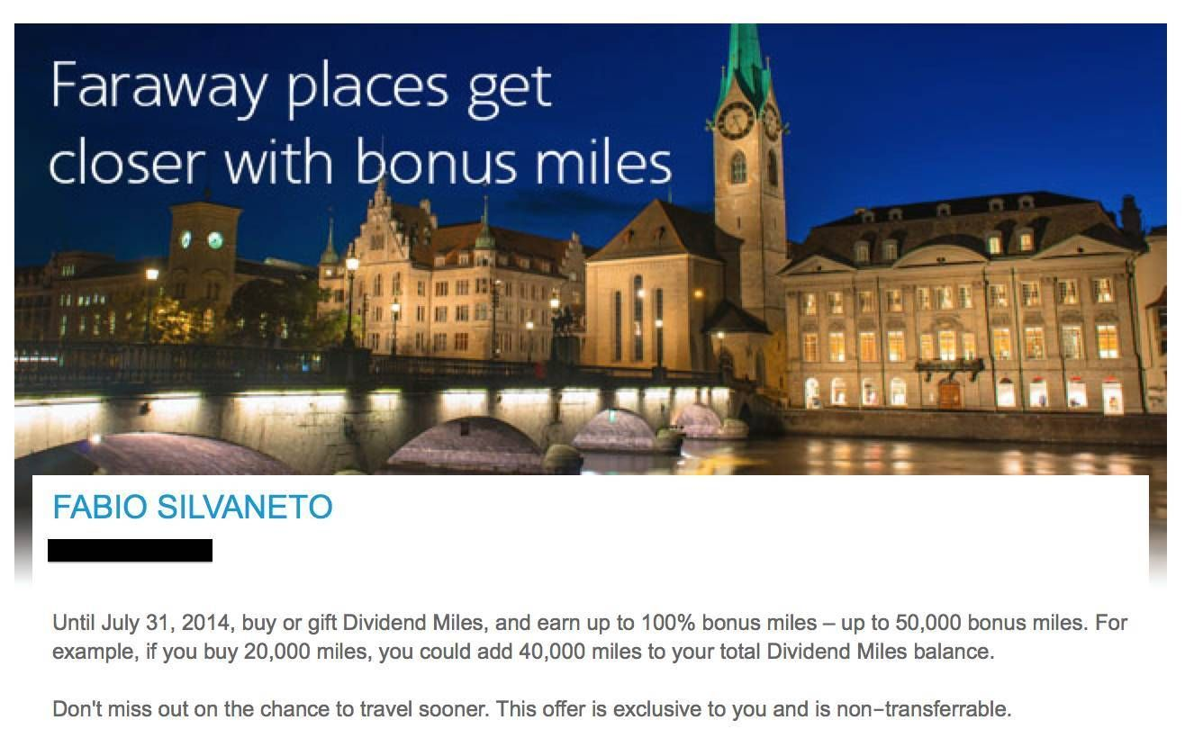 Promoção: Compre milhas US Airways e ganhe 100% de bônus!
