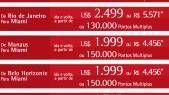 Promoção da TAM para Miami em Classe Executiva por R$3.889,00