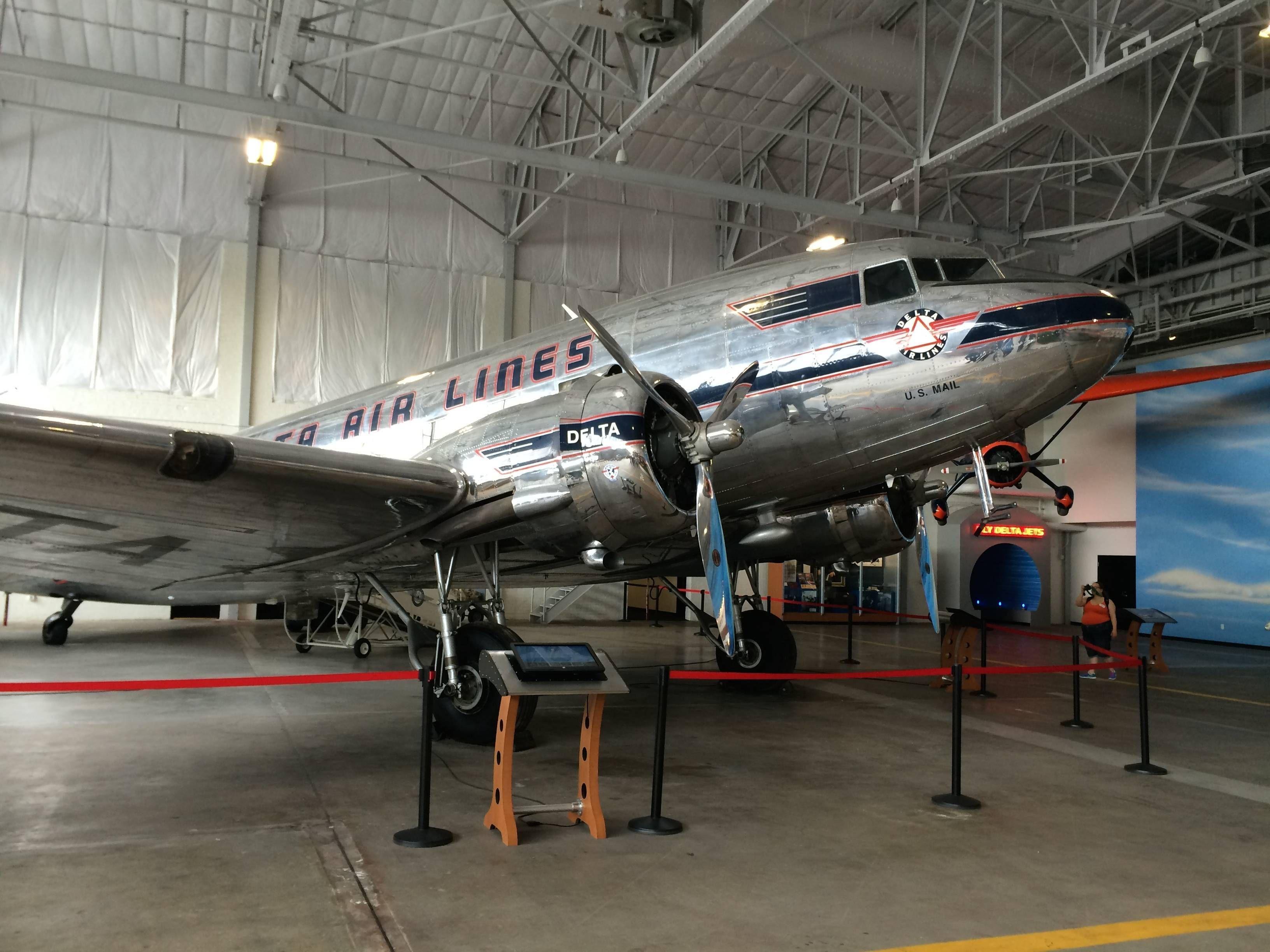 Delta Flight Museum Museu Atlanta passageirodeprimeira
