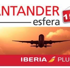 Santander Esfera oferece 15% de bonus na transferência de pontos para Iberia
