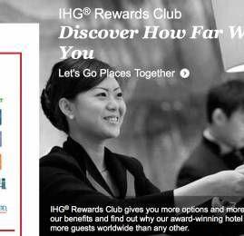 IHG publica nova lista de hotéis com diárias por 5.000 pontos