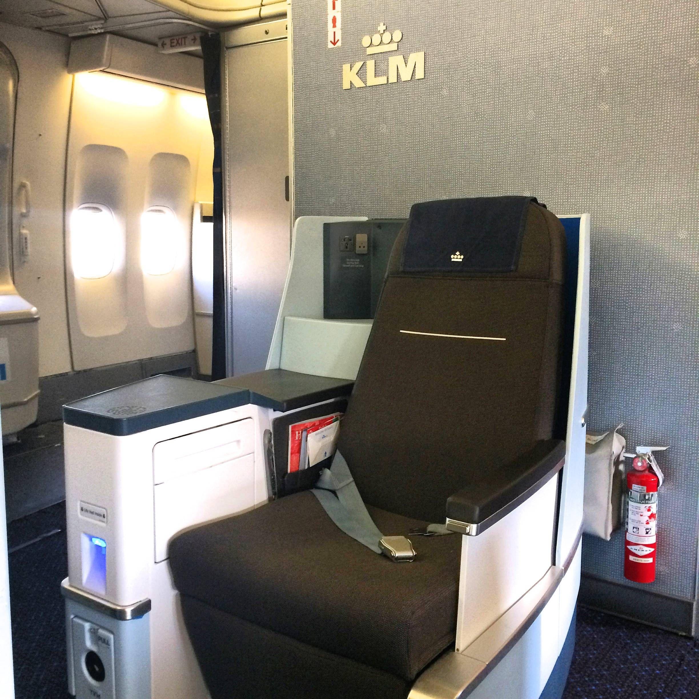 KLM b747 new business class nova classe executiva