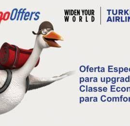 Promoção da Turkish Airlines oferece upgrade para Comfort Class por 150EUR