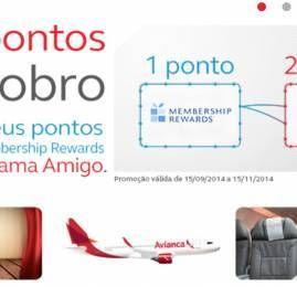American Express oferece 100% de bônus nas transferências para o programa Amigo da Avianca Brasil
