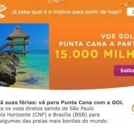 Smiles: Punta Cana a partir de 15.000 milhas