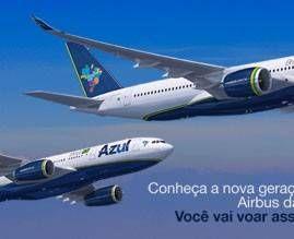 Terceiro Airbus A330-200 da Azul chega ao Brasil