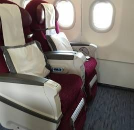 Primeira Classe da Qatar Airways no A321