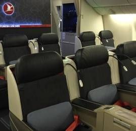 Classe Executiva da Turkish Airlines no B777-300ER
