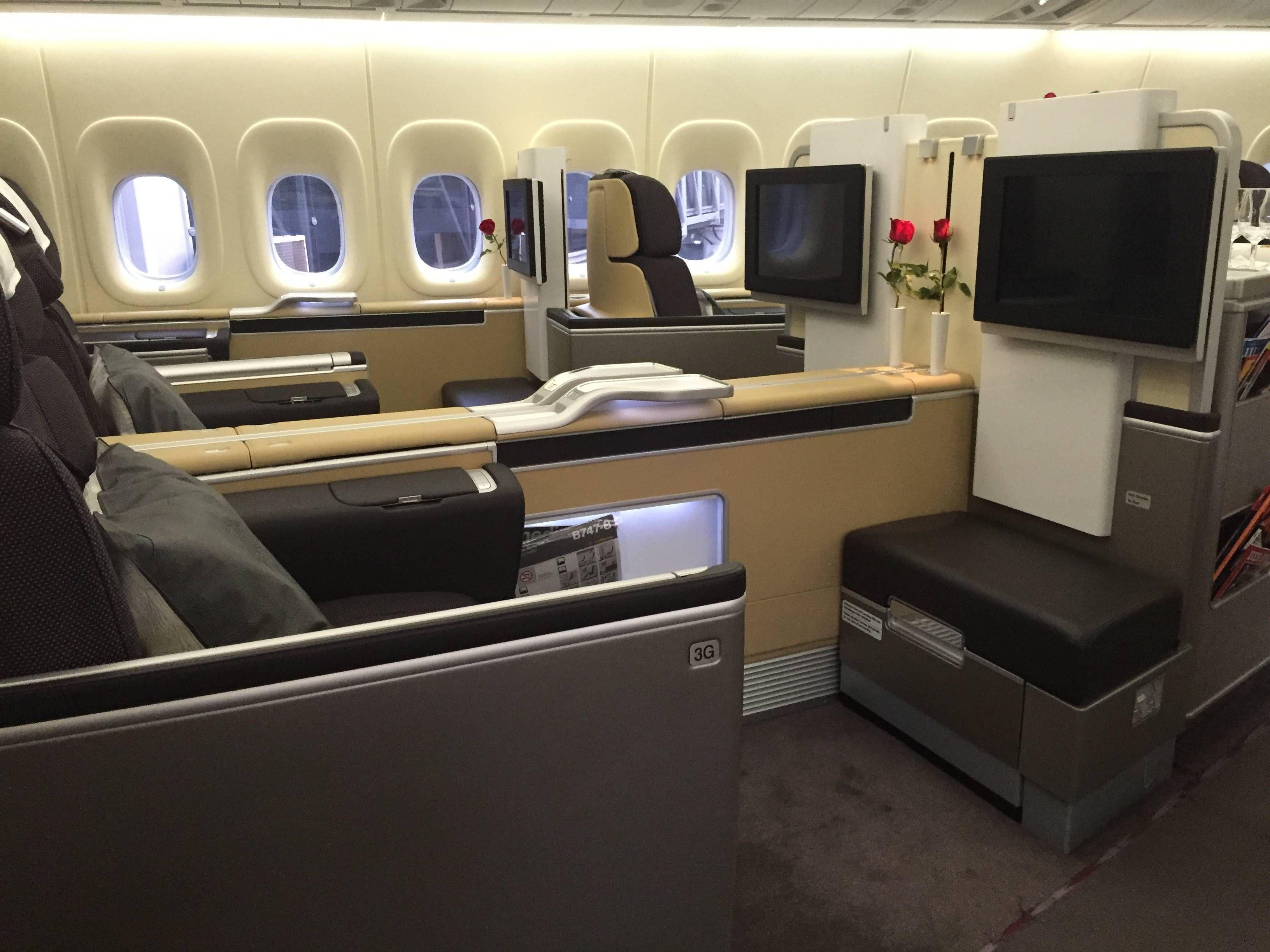 24 horas curtindo a Primeira Classe da Lufthansa