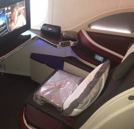 Classe Executiva da Qatar Airways no B787-8 Dreamliner