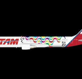 TAM celebra os 450 anos do Rio customizando um avião