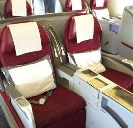 Classe Executiva da Qatar por 15.000 milhas