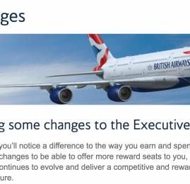 Programa Executive Club da British Airways anuncia mudanças na tabela de resgate