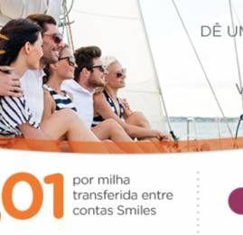 Transfira milhas Smiles entre contas por R$0,01