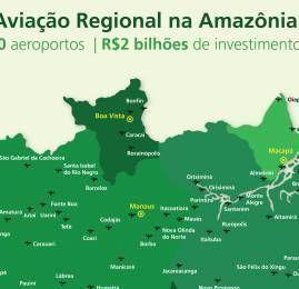 Região Amazônica receberá investimentos para reforma e construção de 80 aeroportos