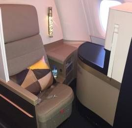 Classe Executiva da Etihad no A380 – Business Studio