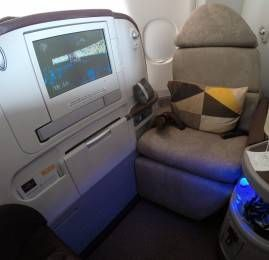 Classe Executiva da Jet Airways no A330 (operado pela Etihad)