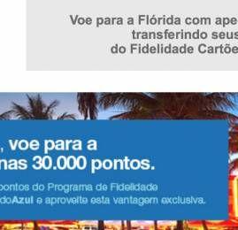 Clientes Bradesco viajam com a Azul por 30.000 pontos para os EUA