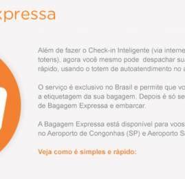 """GOL expande serviço exclusivo """"Bagagem Expressa"""" no aeroporto Santos Dumont"""