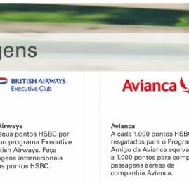 HSBC volta com Avianca e British Airways como parceiros do seu programa de recompensas