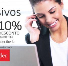 Iberia oferece 15% de bonus em milhas para clientes Santander e desconto na compra de classe executiva