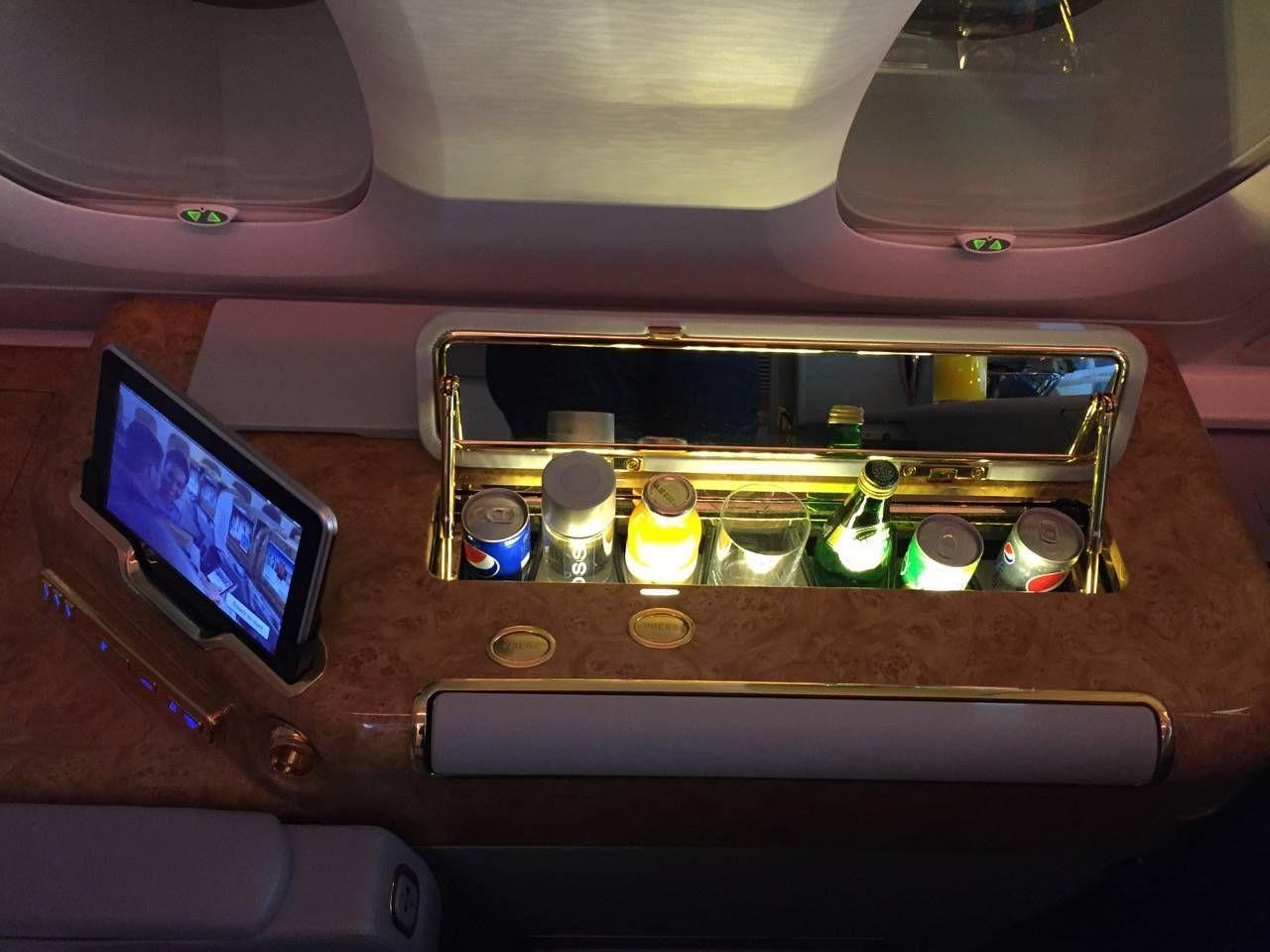 Emirates First Class A380 DXB-DFW-019