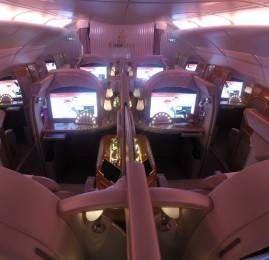 Primeira Classe da Emirates no A380 – Dubai para Dallas