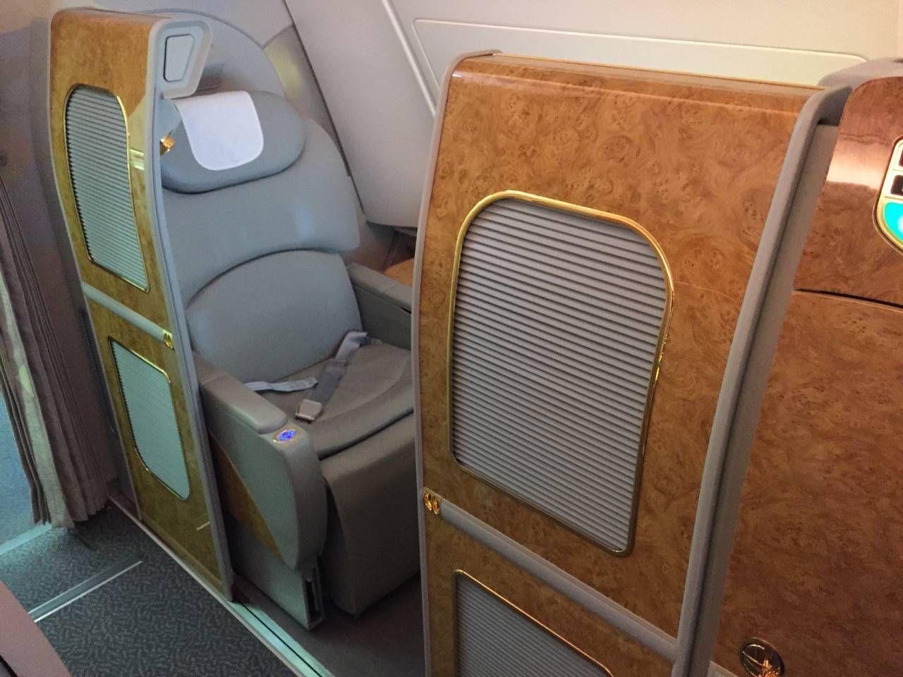 Emirates First Class A380 DXB-DFW-020