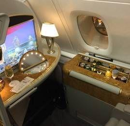 Primeira Classe da Emirates no A380 – Shanghai para Dubai