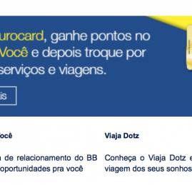 Cartões do Banco do Brasil deixam de pontuar na função débito