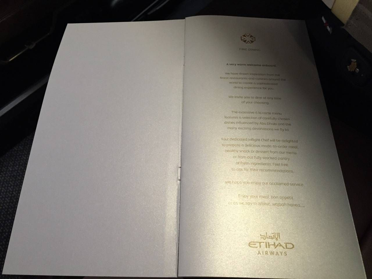 Etihad First Class Apartment Inaugural - AUH-SYD-0116