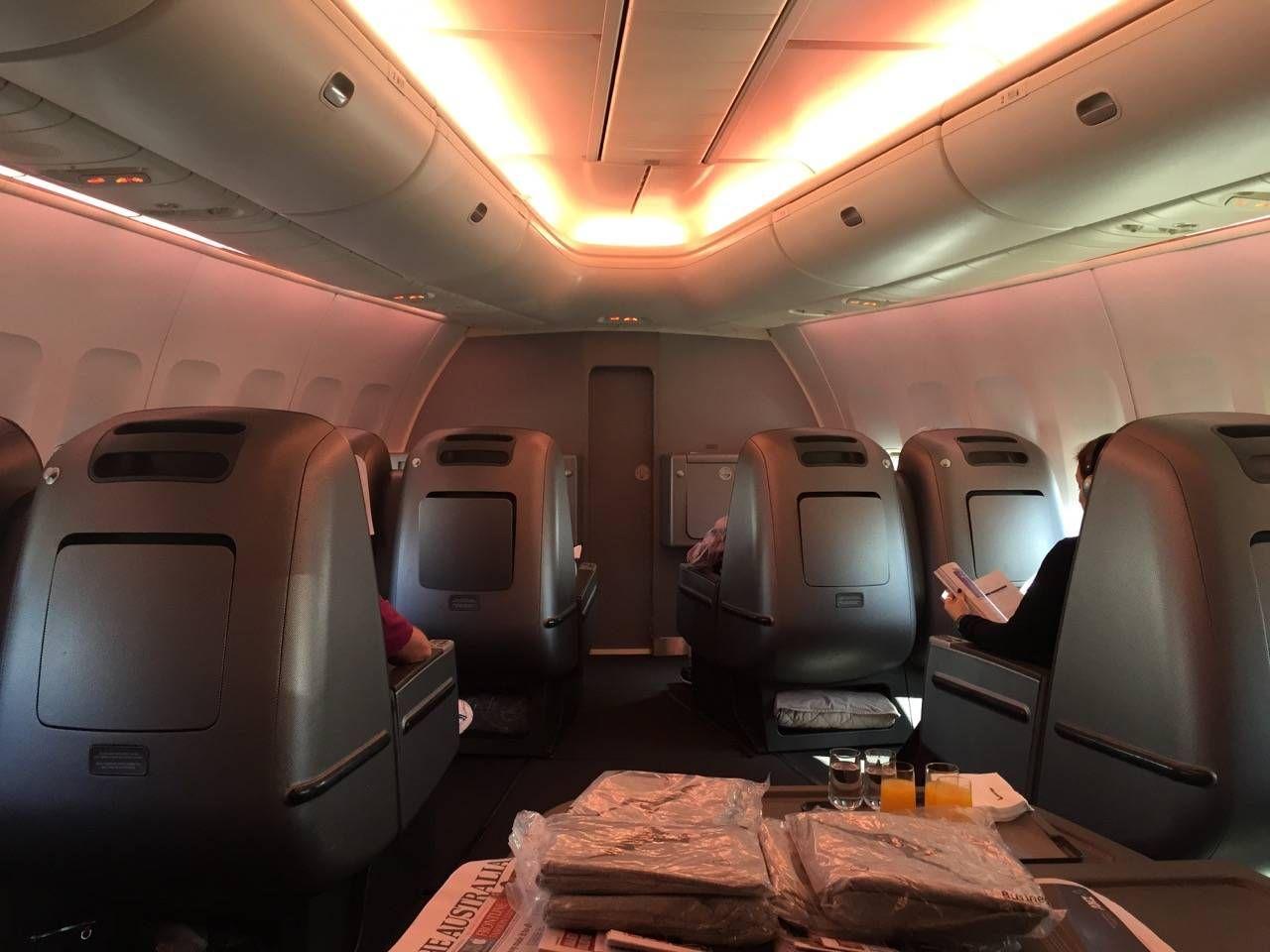 Qantas B747 Business Class-08