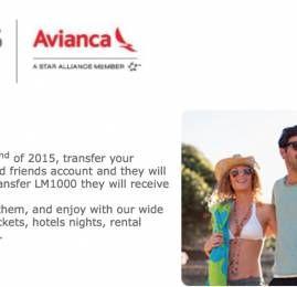 LifeMiles da Avianca oferece 100% de bônus na transferência de milhas