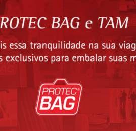 TAM e LAN fecham parceria com a Protec Bag para embalagem de bagagens