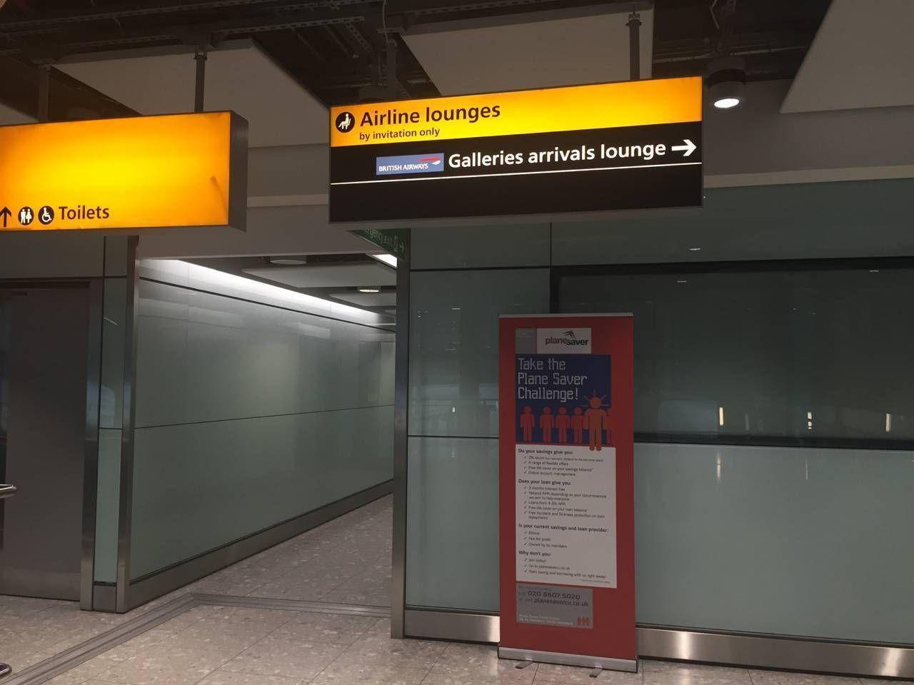 British Airways Arrival Lounge T5-015