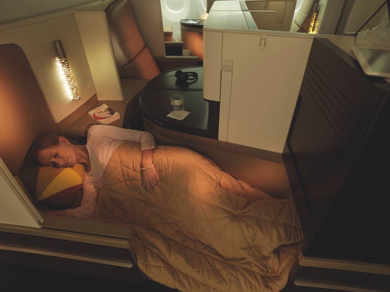 Business Studio_Sleeping Female Guest