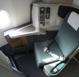 Classe Executiva da Cathay Pacific no A330 – Dubai para Hong Kong