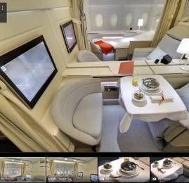 Air France lança tour virtual por suas novas cabines